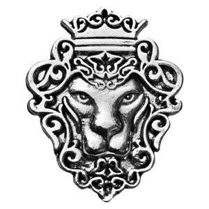 Lion Brooch (Rhodium)
