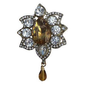 Topaz Drop Brooch