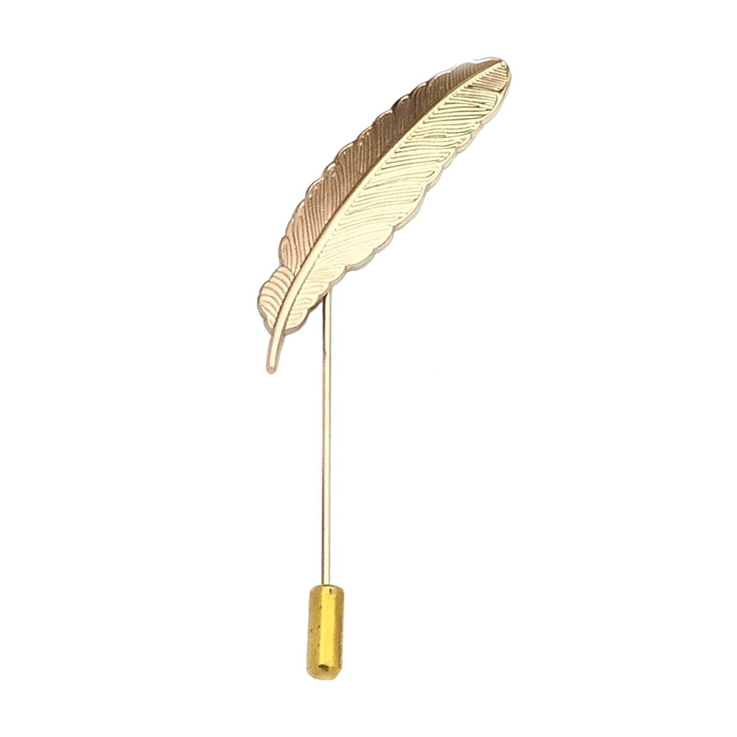 Feather Lapel Pin (Golden)