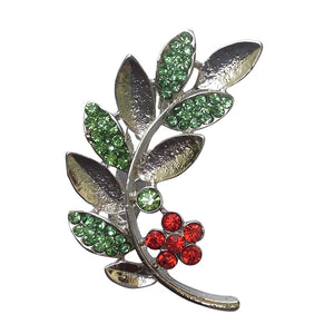 Leaf Stalk Brooch (Rhodium)