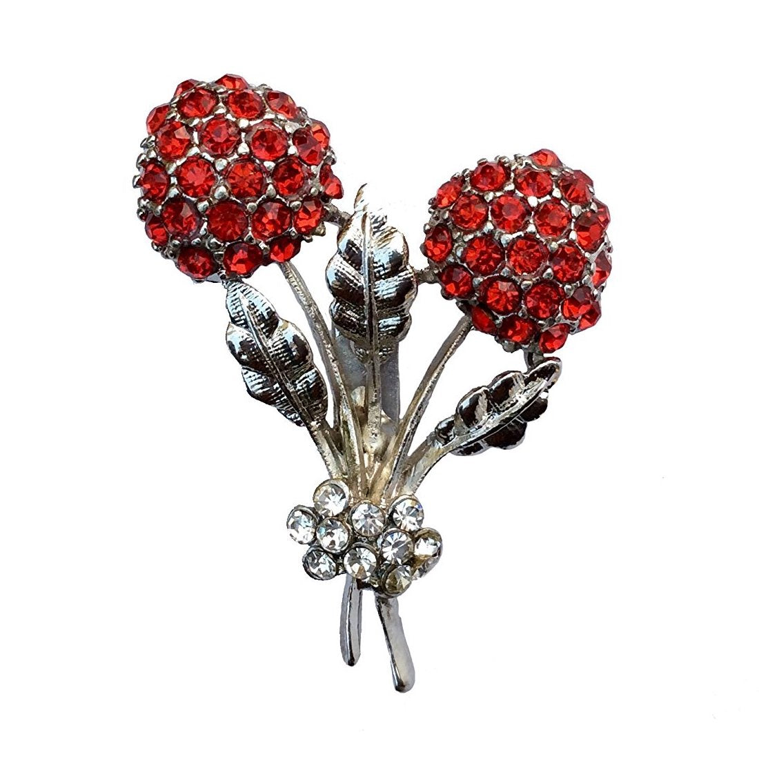 Double Flower Brooch (Antique Rhodium)