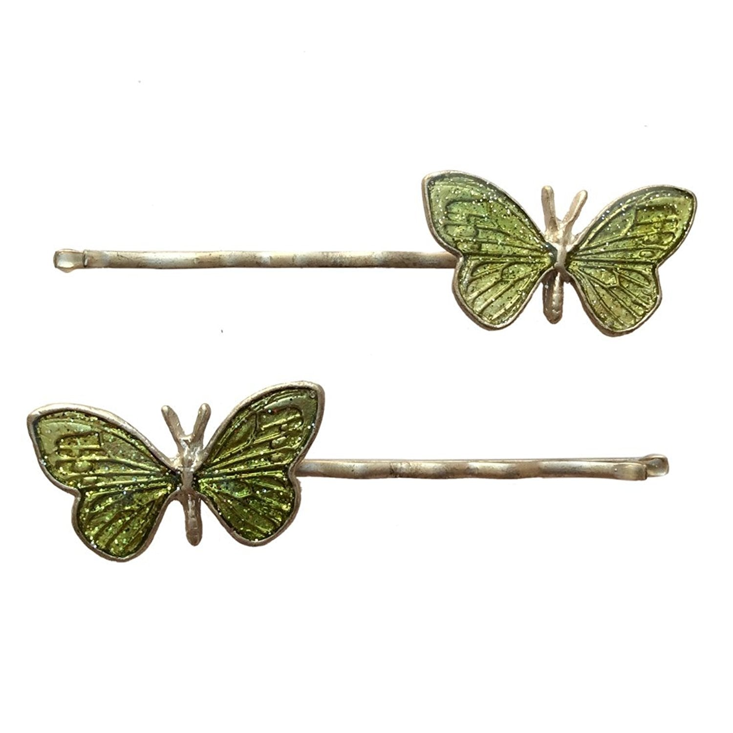 Enamel Butterfly Bobby Pin (Green)