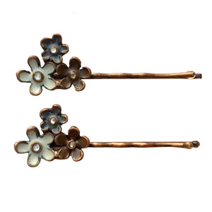 Sombre Flowers Bobby Pin