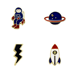 Off to Space Enamel Pins