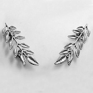 Leaves Collar Brooch Pins (Antic Rhodium)