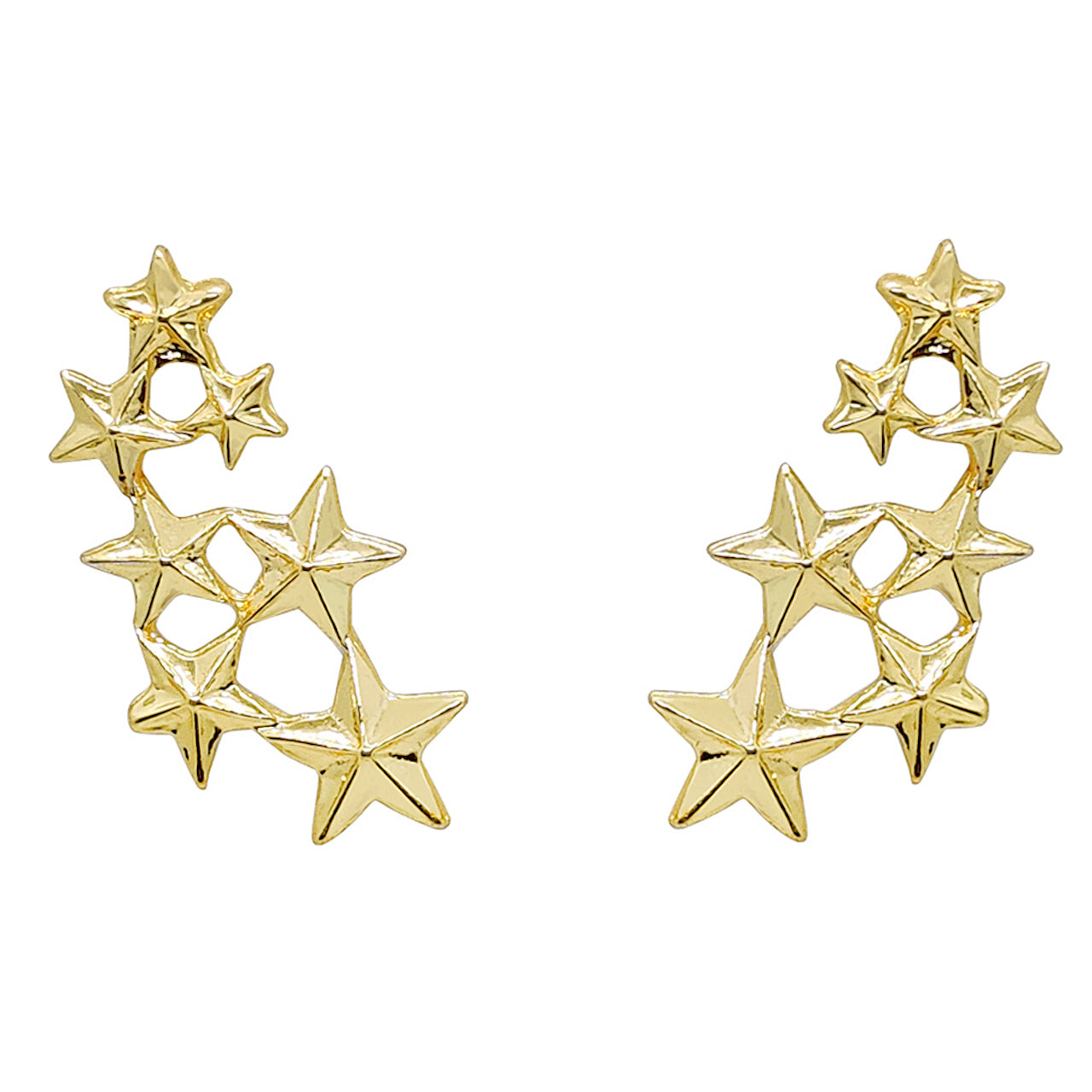 Seven Stars Collar Pins (Golden)