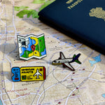 Load image into Gallery viewer, Travel the World Enamel Pins