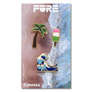 Cool Beach Enamel Pins