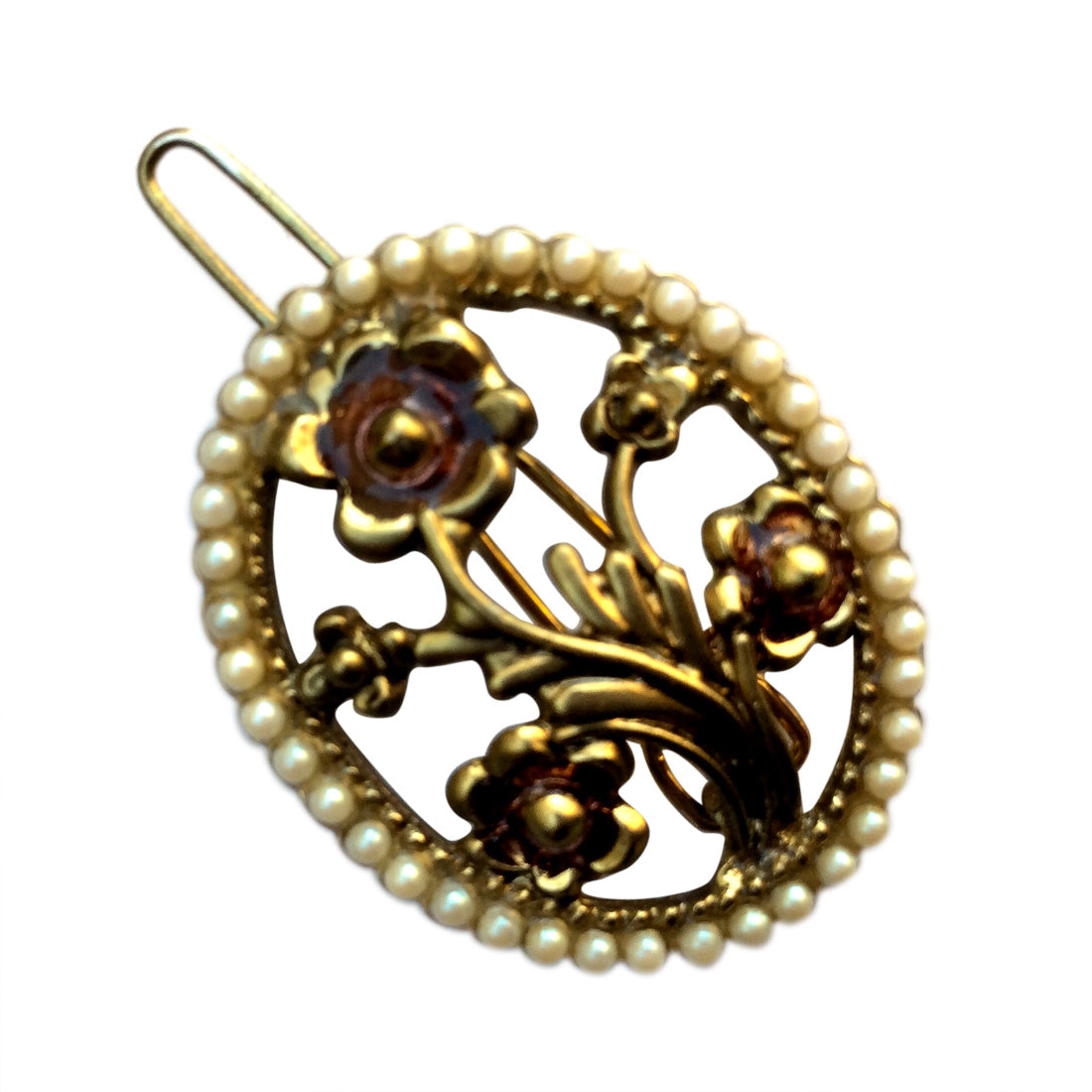Oval Flower Wire Clasp