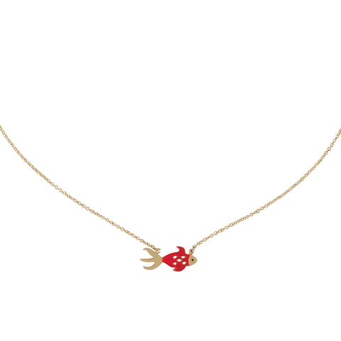 Collier Carpe Koï Rouge