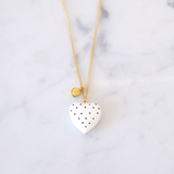 Locket Coeur Plumetis