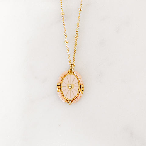 Collier Coeur Blush