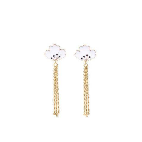 Boucles d'oreille roses English Rose