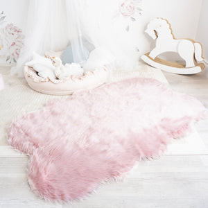 Shaped Faux Fur Rug | 4x6ft 5x7ft