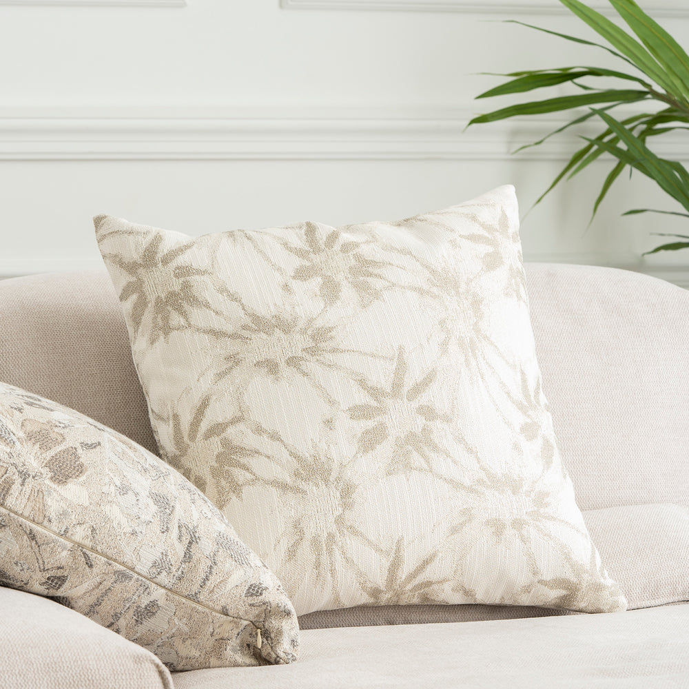 White Floral Pillow 20""