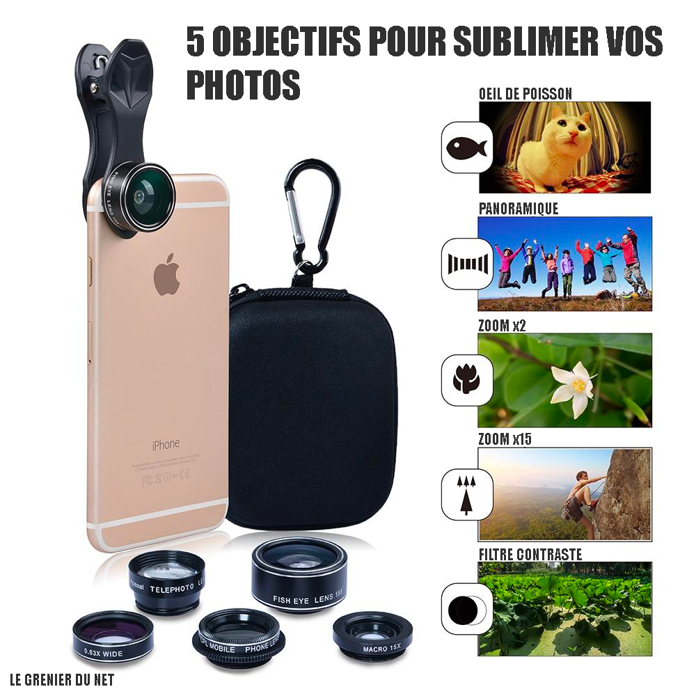 objectif pour telephone