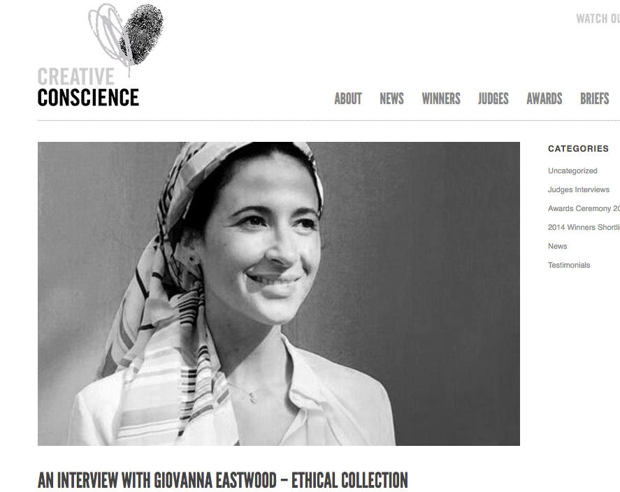 AN INTERVIEW WITH GIOVANNA EASTWOOD – CREATIVE CONSCIENCE