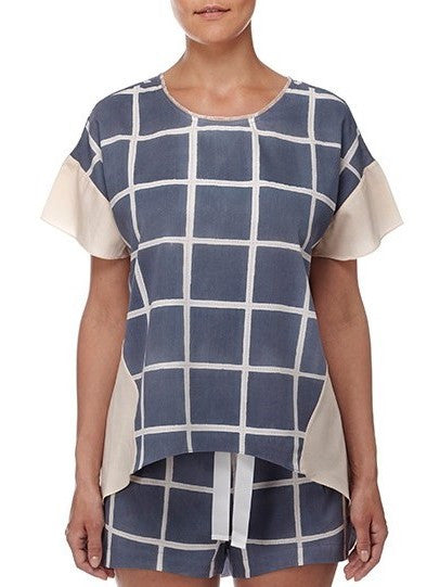 Eight Hour Studio - Organic Cotton Long Back Tee - Naughts & Crosses
