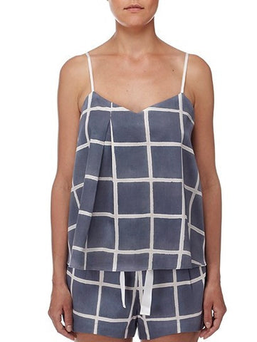 Eight Hour Studio - Organic Cotton Camisole - Noughts & Crosses