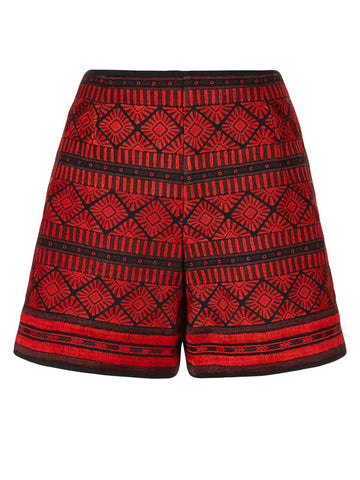 Uzma Bozai - Cotton Bibi Shorts - Red