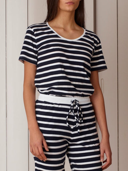 Kowtow - Organic Cotton Striped Scoop Tee
