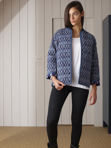 Uzma Bozai - Raggy Reversible Jacket - Blue