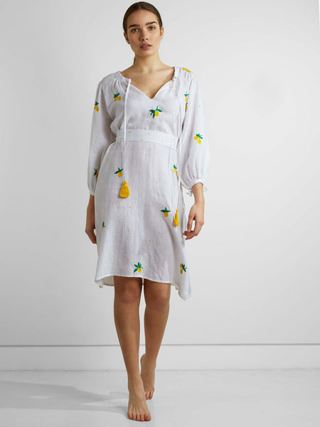 Pink City - Citron Dress - White