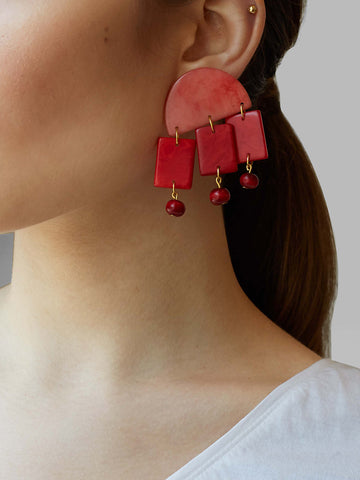 Shicato - Roberta Earrings - Red