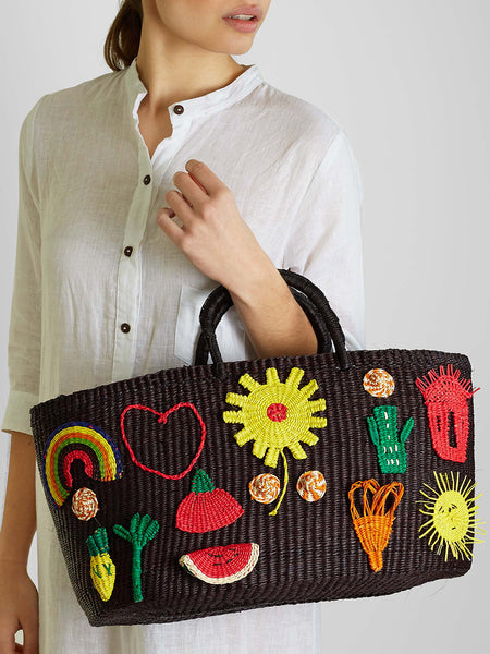 Shicato - Patches Tote Bag - Black