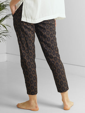 Bandhani Trousers - Moonlit Blue