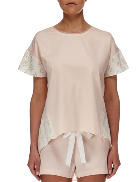 Eight Hour Studio  - Organic Cotton Long Back Tee - Blush