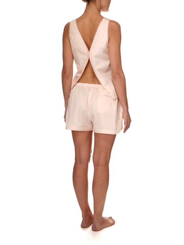 Eight Hour Studio - Organic Cotton Open Back Tank Top - Blush