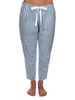 Eight Hour Studio - Organic Cotton PJ Trousers - Blue