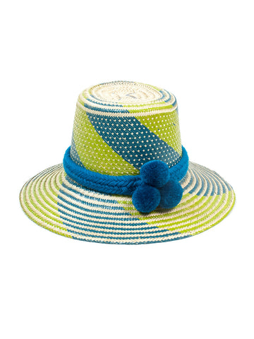 Guanabana - Guajiro Hat - Green & Blue