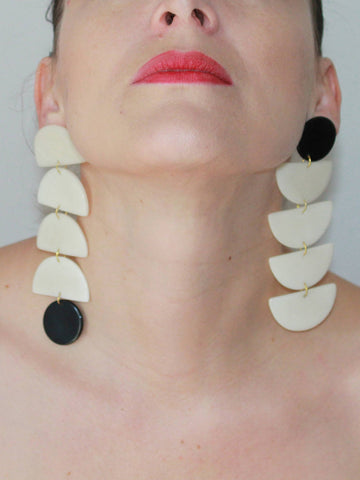 Shicato - Hectar Earrings - Black/White