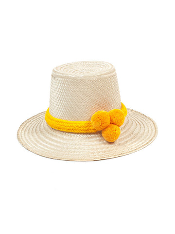 Guanabana - Guajiro Hat - Natural & Orange