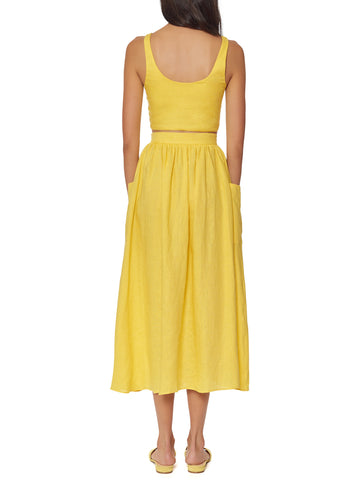 Mara Hoffman - Patch Pocket Midi Skirt - Yellow