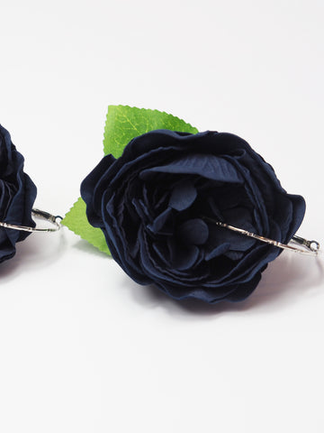 Gung Ho - Statement Earrings - Navy