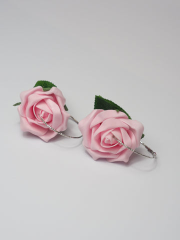 Gung Ho - Roses Earrings - Baby Pink