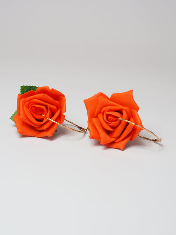 Gung Ho - Roses Earrings - Orange