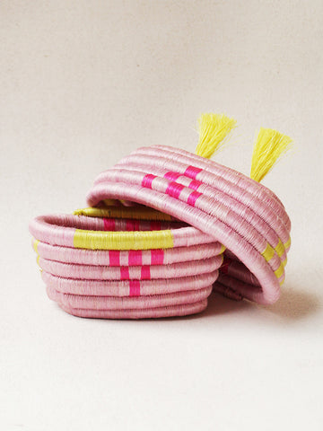 Indego Africa - Basket - Pink/Yellow