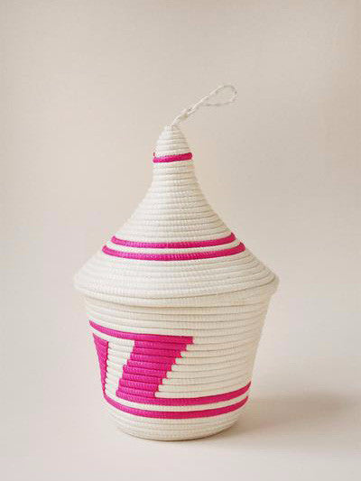 Indego Africa - Peace Basket - Pink