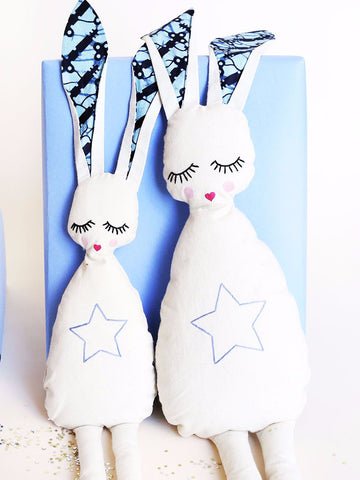 Indego Africa - Sleepy Star Bunny - Blue