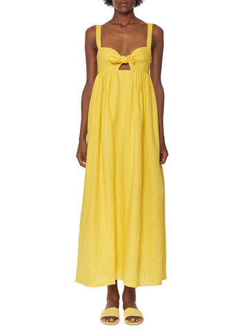 Mara Hoffman - Tie Front Ankle Dress - Yellow