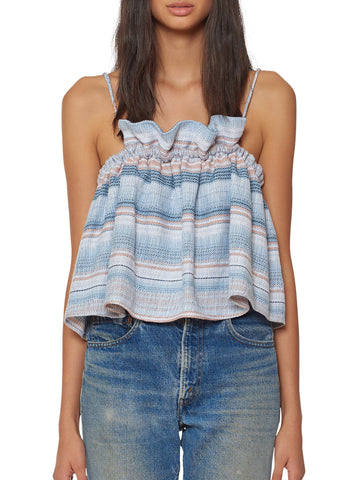 Mara Hoffman - Gathered Cami - Blue Multi