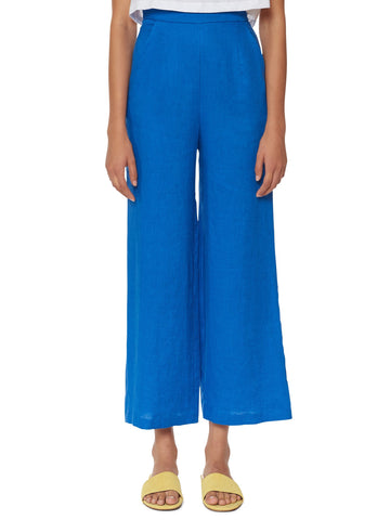 Mara Hoffman - High Waisted Cropped Pant - Blue