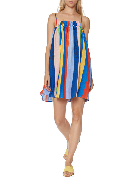 Mara Hoffman - Gathered Mini Dress - Multi