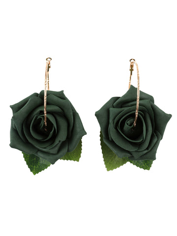 Gung Ho - Roses Earrings - Green