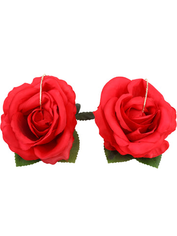 Gung Ho - Big Roses Earrings - Red