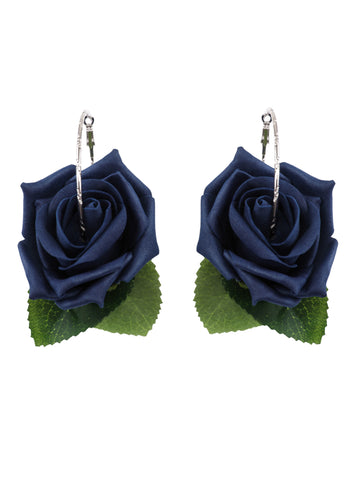 Gung Ho - Roses Earrings - Navy